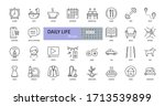 vector daily life icons.... | Shutterstock .eps vector #1713539899