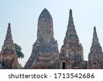 sculpture ancient old pagoda at ... | Shutterstock . vector #1713542686
