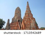 sculpture ancient old pagoda at ... | Shutterstock . vector #1713542689