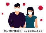 coronavirus. novel virus 2019... | Shutterstock .eps vector #1713561616