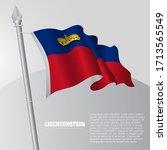 waving flag of liechtenstein on ... | Shutterstock .eps vector #1713565549