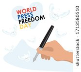 world press freedom day.... | Shutterstock .eps vector #1713580510