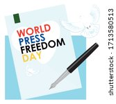 world press freedom day.... | Shutterstock .eps vector #1713580513
