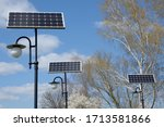 Solar Panels At The Lanterns In ...
