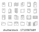 catalogue icons set. outline... | Shutterstock .eps vector #1713587689