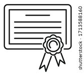 born birth certificate icon.... | Shutterstock .eps vector #1713588160