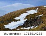 Ben Nevis Peak With Snow Cap...
