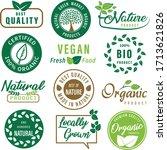 set of organic food  healthy... | Shutterstock .eps vector #1713621826