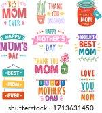 set of positive short phrase to ... | Shutterstock .eps vector #1713631450