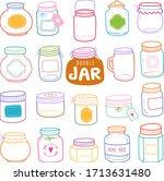 set of jars vector illustration ... | Shutterstock .eps vector #1713631480