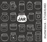 set of jars vector doodle... | Shutterstock .eps vector #1713631483