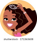 Cartoon Girl Icon Avatar Portrait Illustration Series