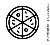 pizza vector thin line icon