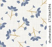 seamless tossed floral pattern ... | Shutterstock .eps vector #1713664396