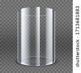 empty transparent glass...   Shutterstock .eps vector #1713681883