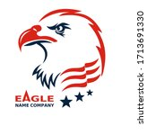 american eagle patriotic logo.... | Shutterstock .eps vector #1713691330