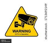 Warning Sticker For Cctv Camera ...