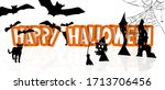 Halloween Holiday Text With...