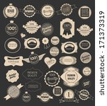 set retro ribbons and label | Shutterstock . vector #171373319