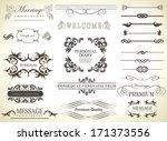 calligraphic design elements... | Shutterstock . vector #171373556