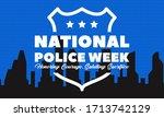 national police week.... | Shutterstock .eps vector #1713742129
