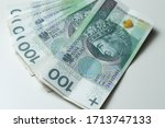 close up of polish zloty ... | Shutterstock . vector #1713747133