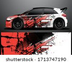 rally car decal graphic wrap...   Shutterstock .eps vector #1713747190