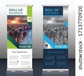 roll up brochure flyer banner...   Shutterstock .eps vector #1713770920