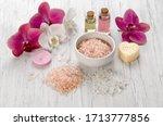 Bath Salts  Pink Orchid Flower  ...