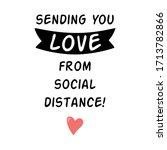 sending love from social... | Shutterstock .eps vector #1713782866