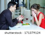 marriage proposal  man give... | Shutterstock . vector #171379124
