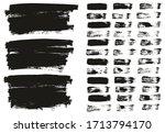 flat paint brush thin lines  ... | Shutterstock .eps vector #1713794170