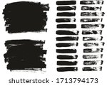 flat paint brush thin lines  ... | Shutterstock .eps vector #1713794173