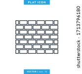 brick wall icon vector design...