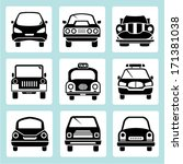 car icons set | Shutterstock .eps vector #171381038