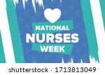 national nurses week. thank you ... | Shutterstock .eps vector #1713813049