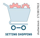 setting shopping icon.... | Shutterstock .eps vector #1713817813