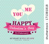valentines day invitation card... | Shutterstock .eps vector #171381818