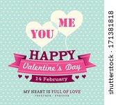 valentines day invitation card... | Shutterstock .eps vector #171381818