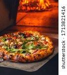 Delicious Italian Pizza In A...