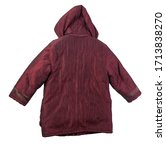 Female Dark Red Coat With A...