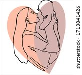 mothers day. best mom. super... | Shutterstock .eps vector #1713841426