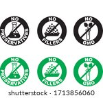 set of food dietary labels for... | Shutterstock .eps vector #1713856060