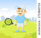 Young Tennis Player With A...