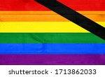 gay memory flag pattern on...   Shutterstock . vector #1713862033