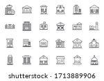 set building icon template for... | Shutterstock .eps vector #1713889906