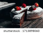 Piece Of Chocolate Cake With...