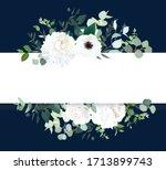 horizontal botanical vector... | Shutterstock .eps vector #1713899743