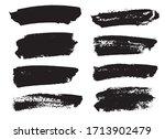 brush strokes set hand drawn... | Shutterstock . vector #1713902479