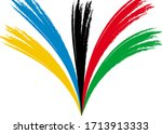 vector background of colored... | Shutterstock .eps vector #1713913333